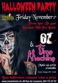 Halloween Double Bill with Time Machine & The Oz